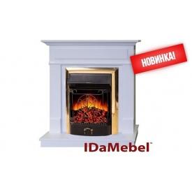 Камінокомплект Michelle Gold IDaMebel Royal FLame Majestic FX Brass 2000 Вт 900x910x310 мм