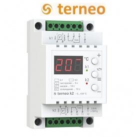 Двухканальный терморегулятор Terneo k2 на DIN-рейку DS Electronics