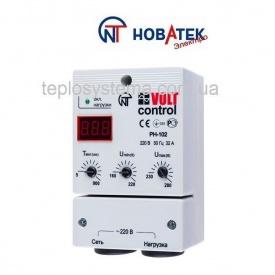 Реле контроля напряжения РН-102 32 А Volt Control Новатек-Электро