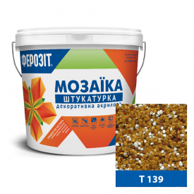 Штукатурка декоративная акриловая ФЕРОЗИТ 33 Мозаика T 139 25 кг