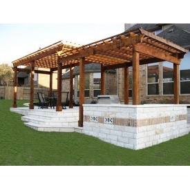 Строительство деревянной перголы для дачи