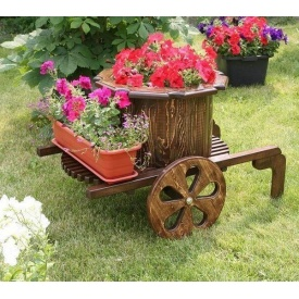 Телега садовая декоративная под заказ