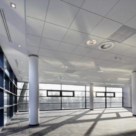 Подвесной акустический потолок AMF 1200х600х15 мм белый