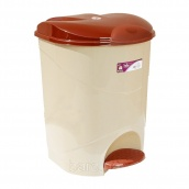Ведро для мусора с педалью Irak Plastik Bella №2 19 л бежевое
