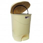 Ведро для мусора с педалью Irak Plastik Bella №3 30 л желтый