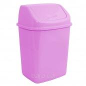 Ведро для мусора 5 л с крышкой розовый