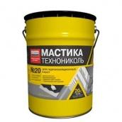 Мастика бітумно-каучукова для покрівлі Техноніколь № 24 20 кг