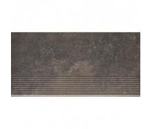 Клінкерний східець Paradyz Viano antracite stopnica prosta struktura 30x60 см