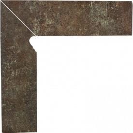 Клинкерный цоколь Paradyz Ilario brown lewy 8,1x30 см