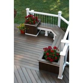 Изготовление деревянной клумбы для цветов под заказ