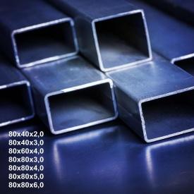 Труба профільна сталь 1-3пс 80х40х2 мм 6 м