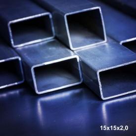 Труба профільна сталь 1-3пс 15х15х2 мм 6 м