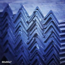 Уголок горячекатаный сталь 3пс 80х80х6 мм 12 м
