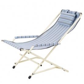 Крісло Гойдалка 20 мм текстилен блакитна смужка Вітан