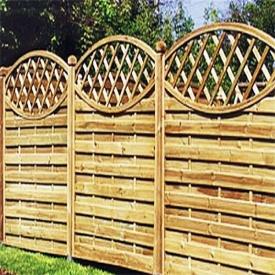 Забор деревянный с овалом.Под заказ.