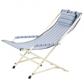 Кресло Качалка 20 мм текстилен голубая полоска Витан