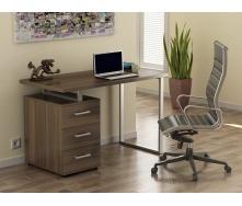 Офісний стіл Loft design L-27 1200х750х600 мм лдсп горіх-модена