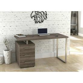 Письмовий стіл L-27 MAX Loft design 1350х750х650 мм лдсп дуб-палена