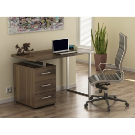 Офісний стіл Loft design L-27 1200х750х600 мм лдсп Горіх Модена