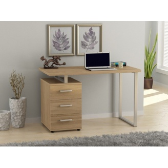 Офисный стол Loft design L-27 1200х750х600 мм Дуб Борас