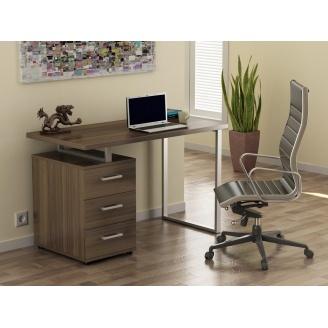 Офисный стол Loft design L-27 1200х750х600 мм лдсп орех-модена