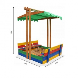 Песочница SportBaby-10 1800х1450х1500 деревянная