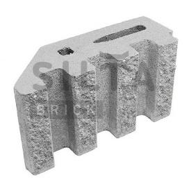 Блок декоративный Силта-Брик Элит 33 канелюрный угловой 390х190х140 мм