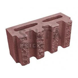 Блок декоративний Сілта-Брік Кольоровий 24 канелюрний 390х190х140 мм