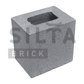 Напівблок гладкий Сілта-Брік Сірий 14 190х190х140 мм