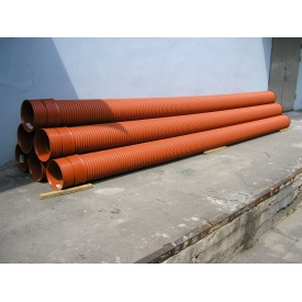 Труба для канализации гофрированная SN 10 см 150х6000 мм
