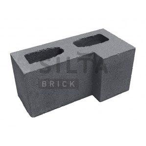 Блок гладкий Сілта-Брік Кольоровий 0-21 кутовий 390х190х190 мм