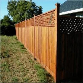 Забор деревянный с сеткой. Под заказ.