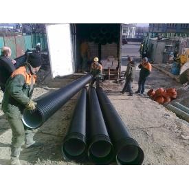 Дренажная труба больших диаметров К2 SN8 ПЕ ID с перфорацией 360 градусов 800х6000 мм