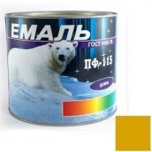 Эмаль ПФ-115 желтая 2,5 кг Gaia