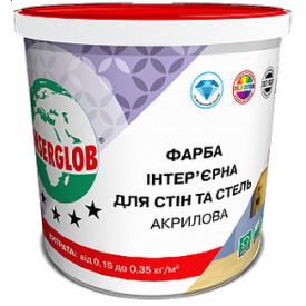 Краска интерьерная Anserglob акриловая для стен и потолков 5 л