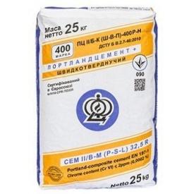 Цемент ПЦ 2/Б-Ш марка 400 Міцний будинок 25 кг