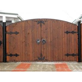Распашные деревянные ворота под заказ