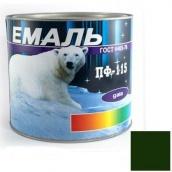 Эмаль Gaia ПФ-115 темно-зеленая 2,5 кг