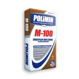 Штукатурно-кладочна суміш Polimin М-100 25 кг