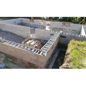 Блок фундаментный несъемной опалубки одинарный 400х500х200 мм серый