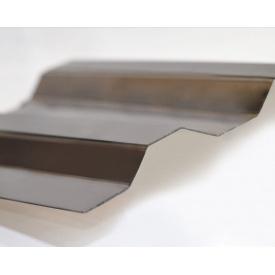 Профилированный монолитный поликарбонат Borrex 0,8 мм 105х400 см бронза