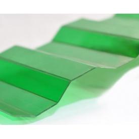 Профилированный монолитный поликарбонат Borrex 0,8 мм 105х300 см зеленый