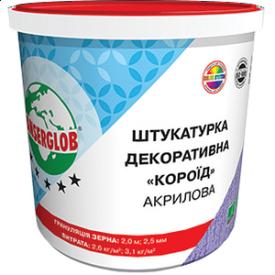 Штукатурка декоративна «Короїд» акрілова Ансерглоб Anserglob зерно 2 біла 25 кг