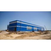 Строительство производственного здания из сэндвич-панелей и металлоконструкций
