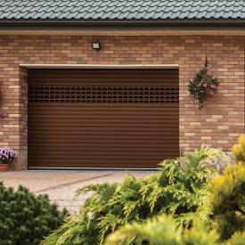 Роллетные ворота ALUTECH Prestige 2600х2100 мм коричневый