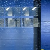 Панорамные ворота ALUTECH AluTherm 3500х3750 мм RAL 9006 серебристый металлик