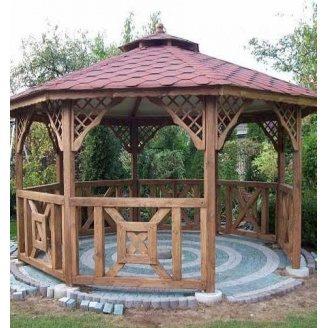 Будівництво дерев`яної восьмигранної альтанки ДВБ-07 під ключ