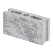 Пустотный заборный колотый блок BERNSTONE бетон 390х190х120 мм серый цемент