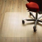 Защитный напольный коврик под кресло 1,0 мм 1000х1250 мм прозрачный