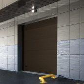 Промышленные ворота ALUTECH ProPlus микроволна 3000х3250 мм RAL8014 коричневый